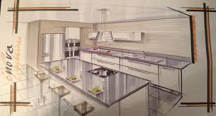plan de cuisine avec ilot idee plan cuisine installez des nons sous les tagres pour
