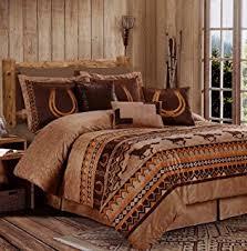 Western Bedding Set Cowboy Branded Western Bedding Set King Home Kitchen