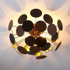 black and gold ceiling lamp kinan lights co uk