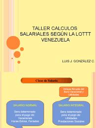 calculo referencial de prestaciones sociales en venezuela calculos salariales segun la lottt de venezuela