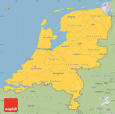 netherlands map images savanna style simple map of netherlands