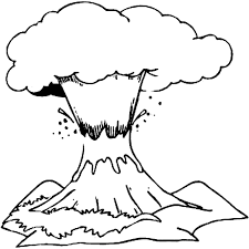 volcano coloring page 664
