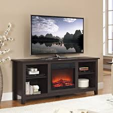 ultra modern 58 espresso tv stand with integrated electric