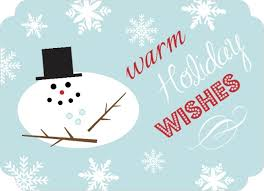 Business Holiday Card Blue Warm Wishes Snowman Business Holiday Card Invite Shop