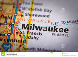 Milwaukee Wisconsin Map by Milwaukee Wisconsin On Map Stock Photo Image 88845219