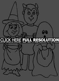 trick or treat halloween coloring pages u2013 festival collections