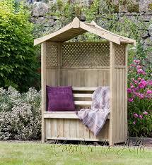 gijon garden arbour seat pergola trellis wood arch bench corner
