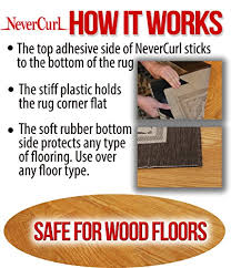 How To Stop A Rug Slipping On Wooden Floors Nevercurl 8 Pack Instantly Stops Rug Corner Curling Safe