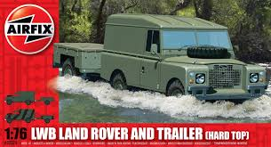 land rover series 1 hardtop airfix a02324 lwb land rover and trailer hard top 1 76