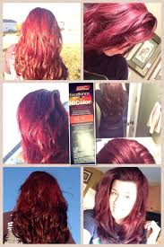 deep red hair u003c3 products used loreal hi color for dark hair