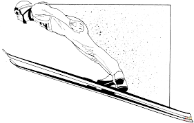 ski jumping coloring page free printable coloring pages