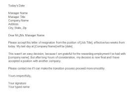 40 two weeks notice letters u0026 resignation letter templates