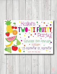two ti fruiti birthday invitation eckles invites