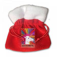 small christmas metal unicorn with rainbow small christmas gift bag