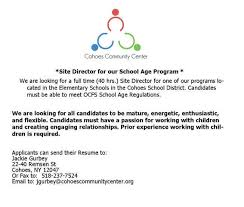 Working With Children Resume Cohoes Communuity Center Ccc