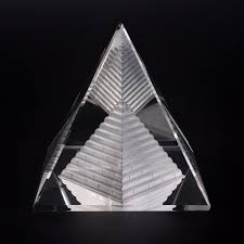 energy healing small feng shui glass clear pyramid ornament