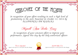 doc 545400 employee of the month certificate template free
