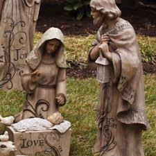 Nativity Sets Outdoor Plastic Lighted Outdoor Nativity Set Ebay