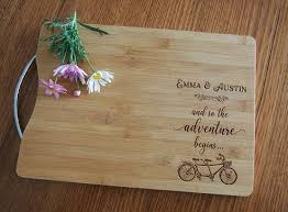 wedding cutting board pt gifts and awards personalised engraved bamboo rectangular