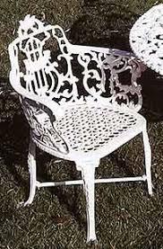 Garden Bench Cast Aluminum Patio Garden Furniture Heart Loveseat - Patio furniture made in usa