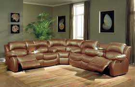 White Leather Recliner Sofa Set by Transitional Brown Bonded Leather Sectional W Recliner Mechanism