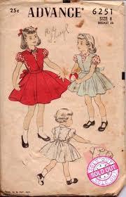 advance 6251 girls blouse peter pan collar puff sleeves scalloped