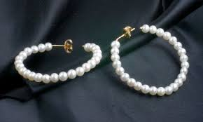 pearl hoop earrings freshwater cultured pearl gold hoop earrings