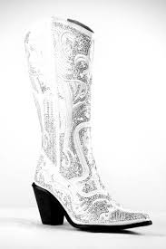 s boots with bling helen s bling cowboy boots in white you may order these at