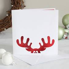 christmas card reindeer papercut christmas card by whole in the middle