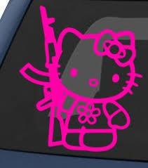 amazon kitty ak 47 car sticker pink automotive