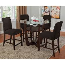 Multi Coloured Chairs by Alcove Counter Height Dinette With 4 Side Chairs Chocolate