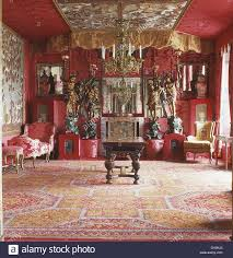 red dining rooms opulent red dining room with ornate ceiling and gold drapes and