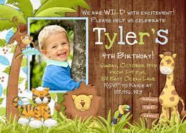 Children Birthday Invitation Card Jungle Birthday Invitation Safari Invitation Zoo Invitation