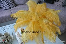 wholesale 14 16inch35 40cm gold ostrich feathers plumes wedding