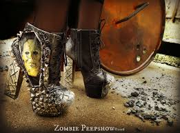 myer s boots michael myers studded ankle boots heels