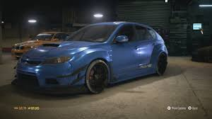 subaru rsti widebody need for speed 2015 subaru wrx sti widebody customization youtube