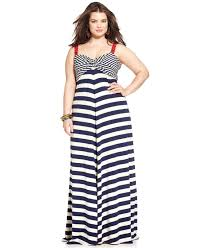lucky brand lucky brand plus size striped empire maxi dress in
