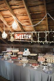 cocoa u0026 fig barn wedding mini dessert table and 2 tier cake for