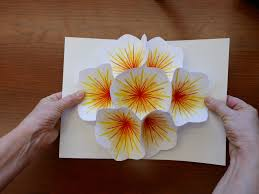 how to make a bouquet flower pop up card