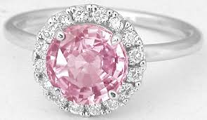 pink sapphire rings images 2 08 ctw peachy pink sapphire and diamond ring in 14k white gold jpg