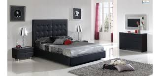 Black And Silver Bed Set Penelope Bedroom Set In Black Finish By Dupen Spain