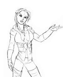 fantasy sketch elf fashion by archicrash on deviantart