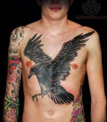 vampire bat chest piece tattoo for men photos pictures and