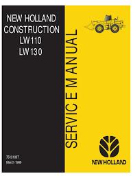 new holland lw110 lw130 loader service manual transmission