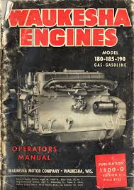 old waukesha waukesha 140 145 817 series engine service old