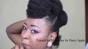 mwahahwk hairstule done using kinky marley hair protective styles mohawk style youtube