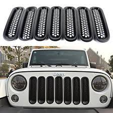Rugged Ridge Billet Grille Inserts In Black Jeep Wrangler Grill Inserts Ebay