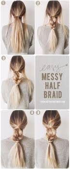 simple hairstyles with one elastic 474 best easy hair styles for travel images on pinterest easy