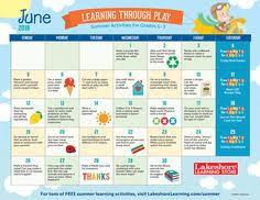 july 2016 pre k u2013kindergarten activity calendar preschool