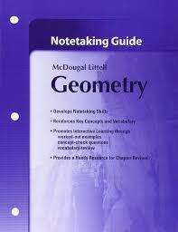 amazon com notetaking guide geometry 9780618736928 mcdougal